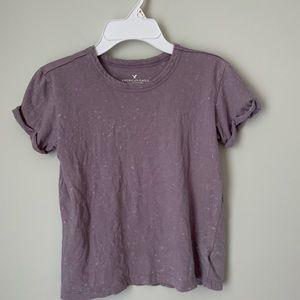 Women's Light Purple w/ white specs Tee *XXS*